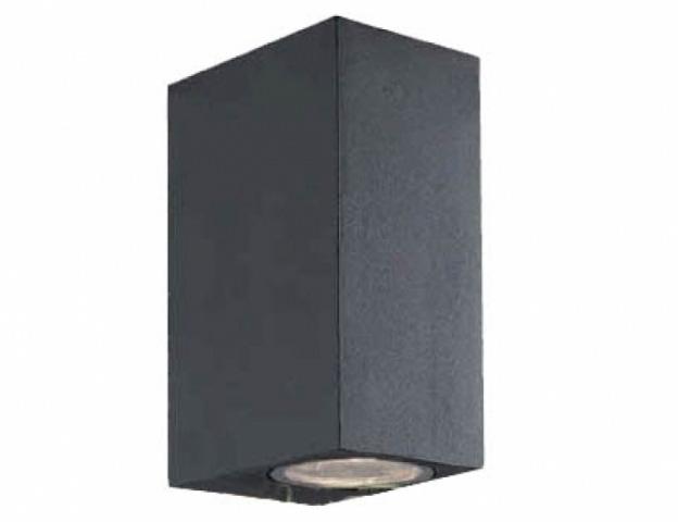 LEDmaster Oldalfalra helyezhető, fekete kerti lámpatest, két irányba világító cserélhető fényforrással