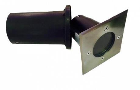 LEDmaster Süllyeszthető, lépésálló, mattkróm kerti lámpatest, cserélhető fényforrással