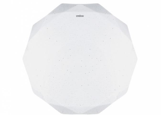 Strühm Diana 24 W-os ø400 mm sokszög alakú natúr fehér mennyezeti lámpa IP44-es védettségű